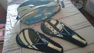 Raquetas babolat y raquetero