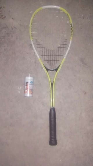 Raqueta squash + 2 pelotas