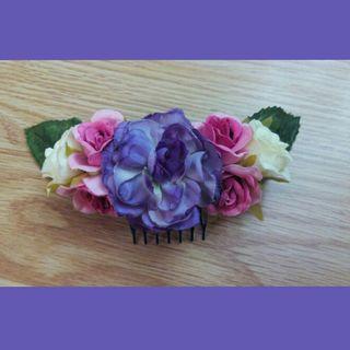 Peineta floral