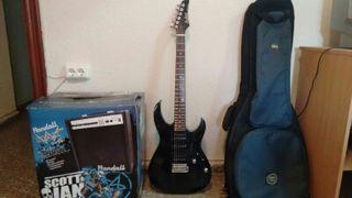 Ampli y guitarra eléctrica