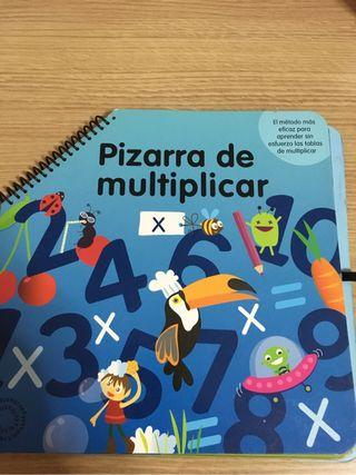 Libro pizarra para aprender a multiplicar