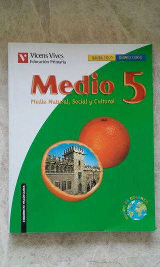"""Libro """"Medio 5 (Medio Natural, Social y Cultural)"""""""
