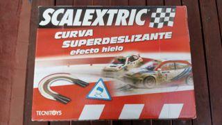 Scalextrix curva superdeslizante efecto hielo