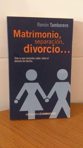 Libro. Matrimonio, separación, divorcio...