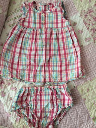 Vestido + braguita GOCCO 9-12 meses