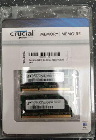 Memoria RAM 4 gb 2+2 MacBook