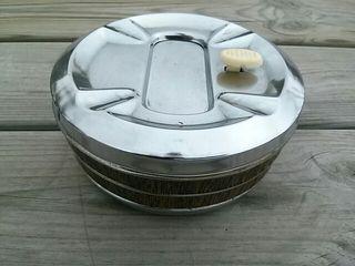 Cenicero metalico vintage automático