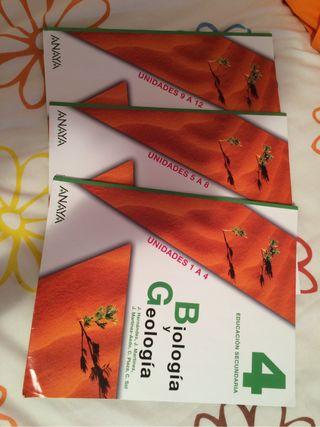 Libro escolar de biología y geología