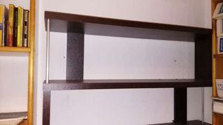 Estanterías madera y aluminio