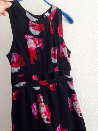 Vestido flores largo