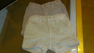 Pantalones cortos de pana 6 meses