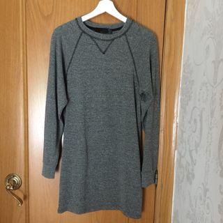 Vestido punto gris