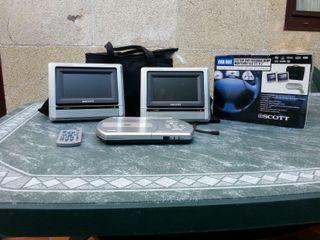 Lector DVD con dos monitores para coche