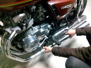 Colector + Escape izquierdo Kawasaki KZ400