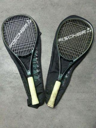Raquetas de tenis de grafito marca Fischer