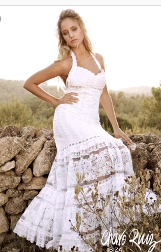 vestido novia charo ruiz - ibiza de segunda mano por 120 € en