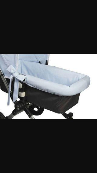 Funda capazo bugaboo carrito bebe azul