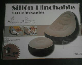 2 Sillones hinchable con reposapies