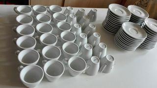 31 Tazas café expresso/solo + plato