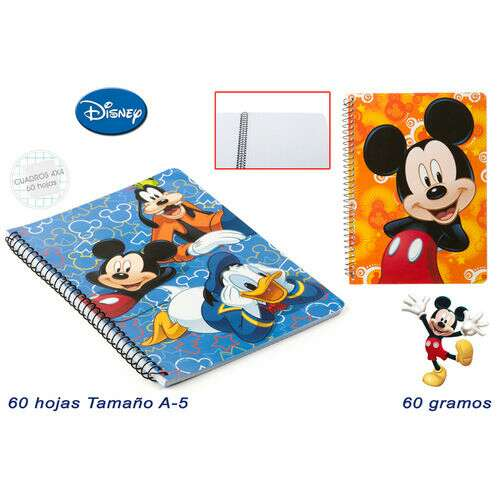 Cuaderno A4 Mickey Mouse
