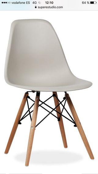 Silla diseño tipo Charles y Ray Eames