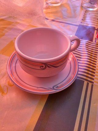 Juego seis tazas cafe y platos nuevosceramica española