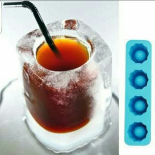 Moldes silicona para hacer vasos de hielo