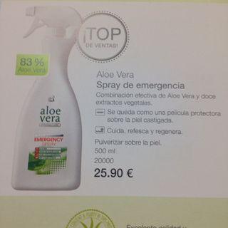 Aloe vera83% Emergency spray