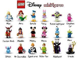 Lego Disney Minifigures Completa