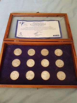 Monedas bañadas en plata.real madrid