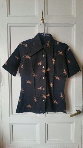 70s Camisa carreras de caballos