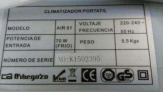 Climatizador humidificador Portátil