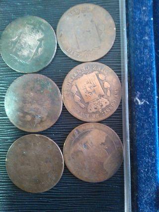 Antiguas monedas de 1870 y de 1879