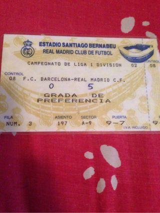 entrada del real Madrid contra Barcelona