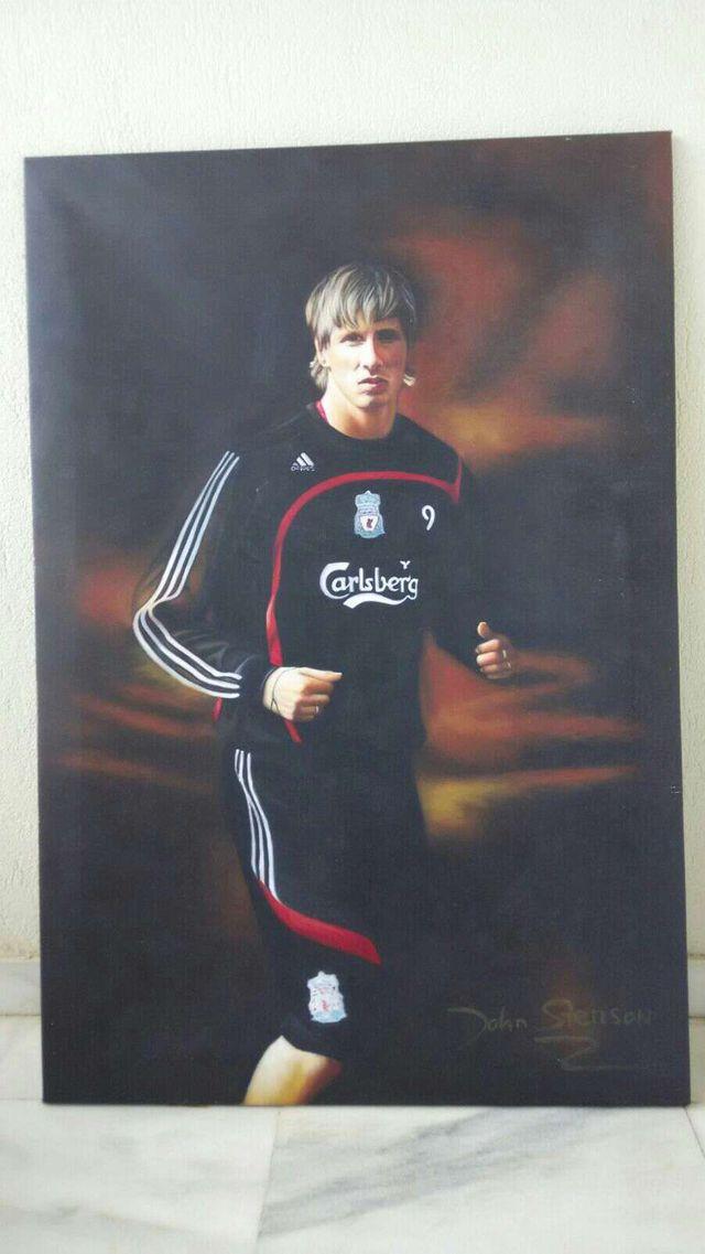 Cuadro lienzo Fernando Torres Liverpool