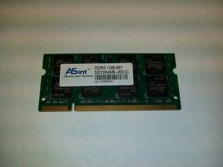 Módulo de memoria para portátiles DDRII 1GB
