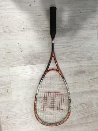 Raqueta y bolsa squas