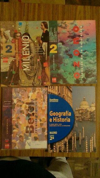 Libros de texto de 2° de secundaria.ya antiguos... .