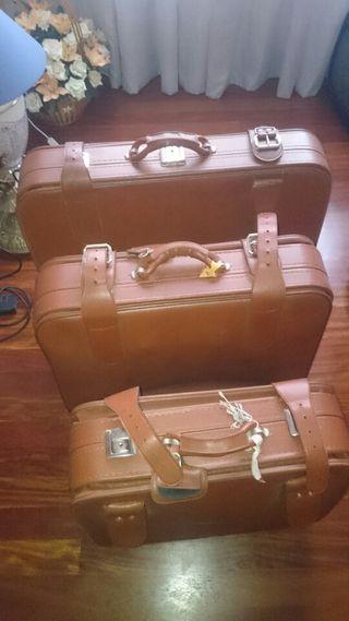 Juego de maletas de Cuero