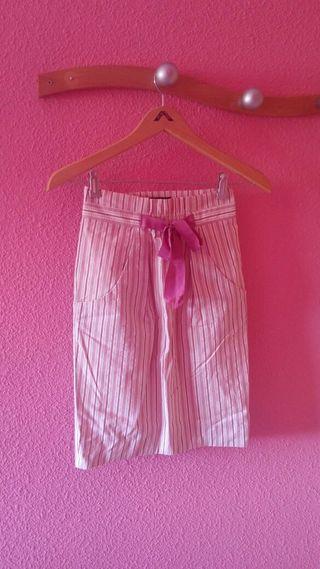 Falda rosa Zara. Talla pequeña