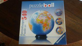 Puzzle 3D globo terráqueo