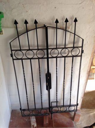 Puerta, reja forja