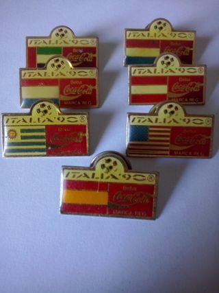 Pins cocacola italia 90