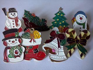 8 Pins de navidad