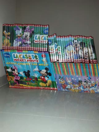 Lote libros y DVD Micky Mouse