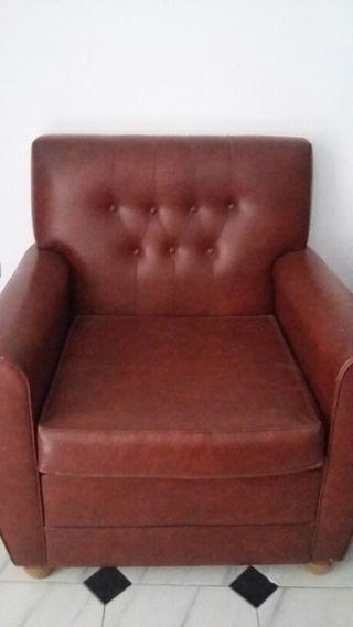 Juego de sofa y dos sillones skay