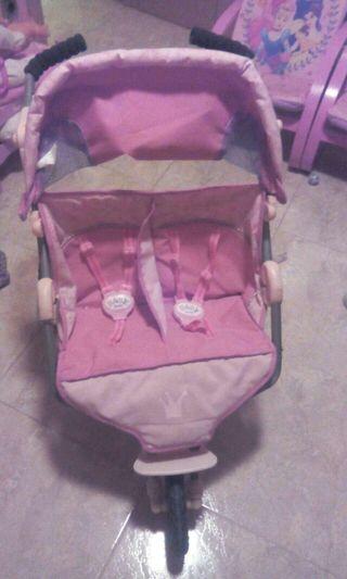 Carrito muñecas baby born