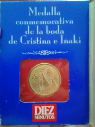 Medalla boda Cristina e Iñaki