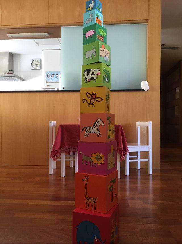 Torre mòduls de fusta - Torre apilable madera
