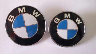Emblemas porton y capo blanco/azul BMW